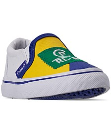 Polo Ralph Lauren Toddler Boys' Landyn Slip-On Casual Sneakers from Finish Line