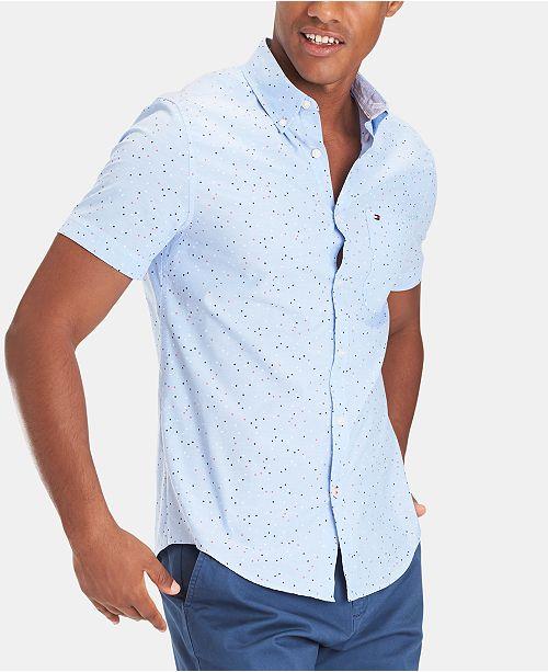 Tommy Hilfiger Men's Slim Fit Gordon Star Printed Shirt