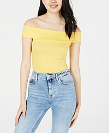 Juniors' Off-The-Shoulder Bodysuit