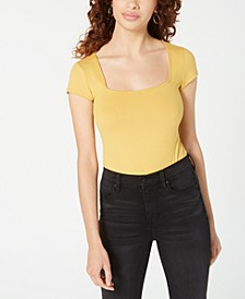 Juniors' Square-Neck Bodysuit