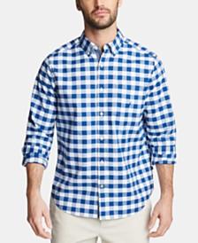 Nautica Men's Blue Sail Classic Fit Plaid Button-Down Shirt, Created for Macy's