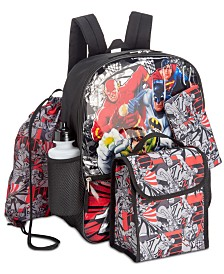Accessory Innovations Little & Big Boys 5-Pc. Justice League Backpack Set