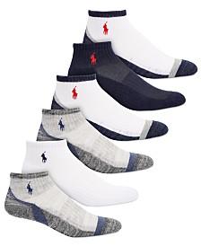 Polo Ralph Lauren Little & Big Boys 6-Pack Marled Quarter-Length Socks
