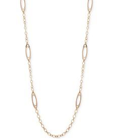 """Lauren Ralph Lauren Gold-Tone Link 42"""" Strand Necklace"""