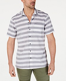 INC Men's Striped Camp Shirt, Created for Macy's