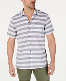 I.N.C. Men's Striped Camp Shirt, Created for Macy's