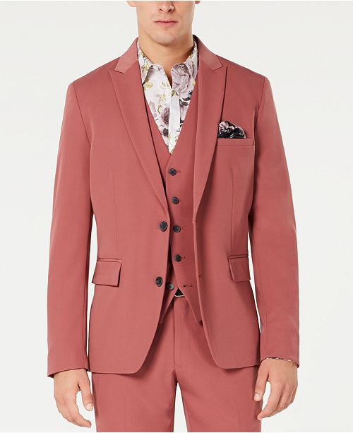 INC International Concepts INC Men's Slim-Fit Dusty Red Blazer, Created for Macy's