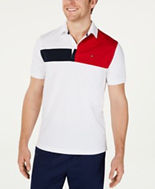Tommy Hilfiger Men's Garcia Custom-Fit Moisture-Wicking Colorblocked Polo