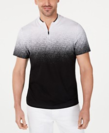 Alfani Men's Ombré Baseball-Collar Shirt, Created for Macy's