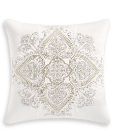"Hotel Collection Classic White Shop 18"" x 18"" Decorative Pillow, Created for Macy's"