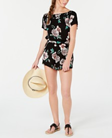 Roxy Juniors' Printed Tidal Times Cover Up Romper