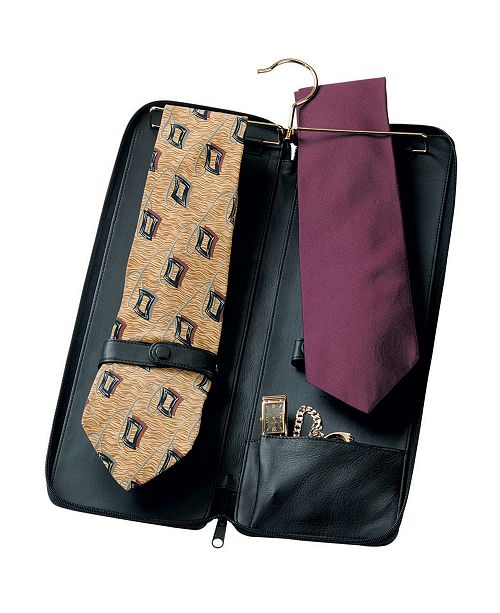 Royce Leather Royce New York Zippered Travel Tie Case