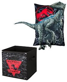 Jurassic World- Storage Bin and Pillow Buddy Set