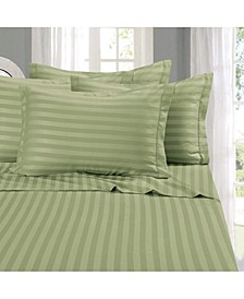 6-Piece Luxury Soft Stripe Bed Sheet Set California King