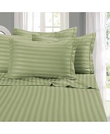 Elegant Comfort 6-Piece Luxury Soft Stripe Bed Sheet Set California King