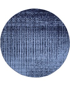 Lyon Lyo2 Blue 8' x 8' Round Area Rug