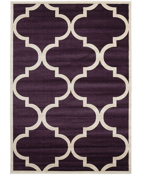 Bridgeport Home Arbor Arb3 Dark Purple 7' x 10' Area Rug