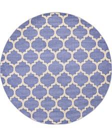 Arbor Arb1 Light Blue 8' x 8' Round Area Rug