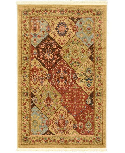 "Bridgeport Home Orwyn Orw1 Tan 3' 3"" x 5' 3"" Area Rug"