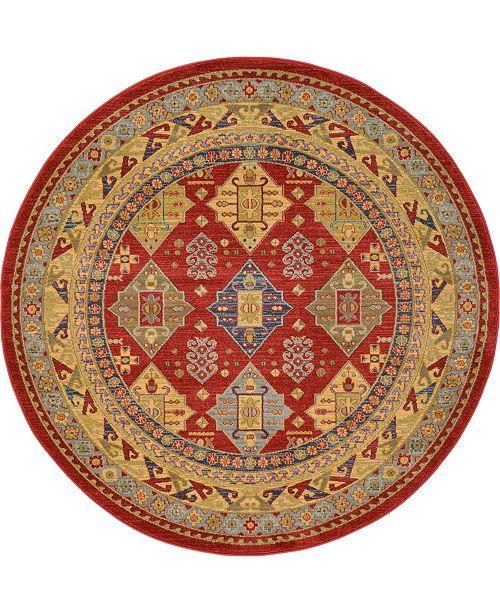 Bridgeport Home Harik Har2 Red 6' x 6' Round Area Rug