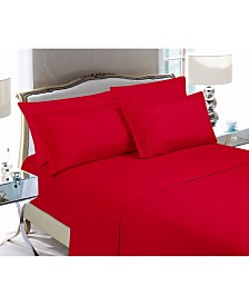 Elegant Comfort 6-Piece Luxury Soft Solid Bed Sheet Set King
