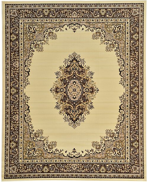 Bridgeport Home Birsu Bir1 Ivory 8' x 10' Area Rug