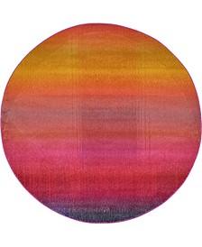 Newwolf New1 Pink 6' x 6' Round Area Rug
