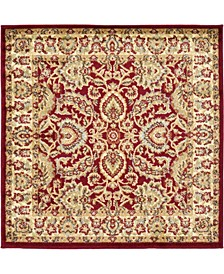 Passage Psg9 Red 4' x 4' Square Area Rug