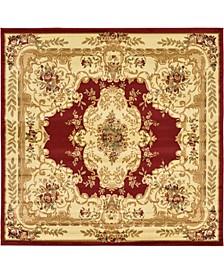 Belvoir Blv5 Red 8' x 8' Round Area Rug
