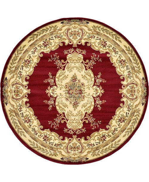 Bridgeport Home Belvoir Blv5 Red 8' x 8' Round Area Rug