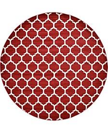 """Arbor Arb1 Red 12' 2"""" x 12' 2"""" Round Area Rug"""