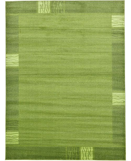 Bridgeport Home Lyon Lyo1 Green 9' x 12' Area Rug