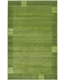 "CLOSEOUT!  Lyon Lyo1 Green 3' 3"" x 5' 3"" Area Rug"