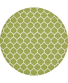 "Arbor Arb1 Light Green 12' 2"" x 12' 2"" Round Area Rug"