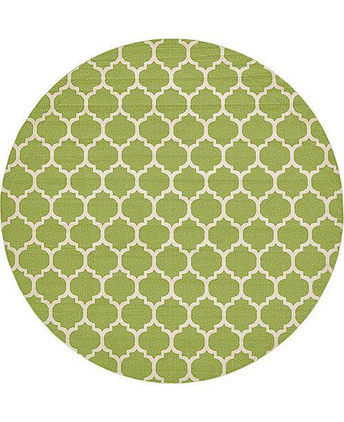 "Bridgeport Home Arbor Arb1 Light Green 12' 2"" x 12' 2"" Round Area Rug"