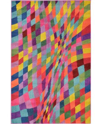 Newwolf New2 Multi 5' x 8' Area Rug