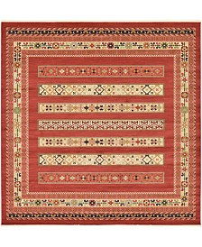 Bridgeport Home Ojas Oja4 Rust Red 10' x 10' Square Area Rug