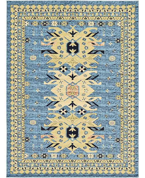 "Bridgeport Home Charvi Chr1 Light Blue 9' 10"" x 13' Area Rug"