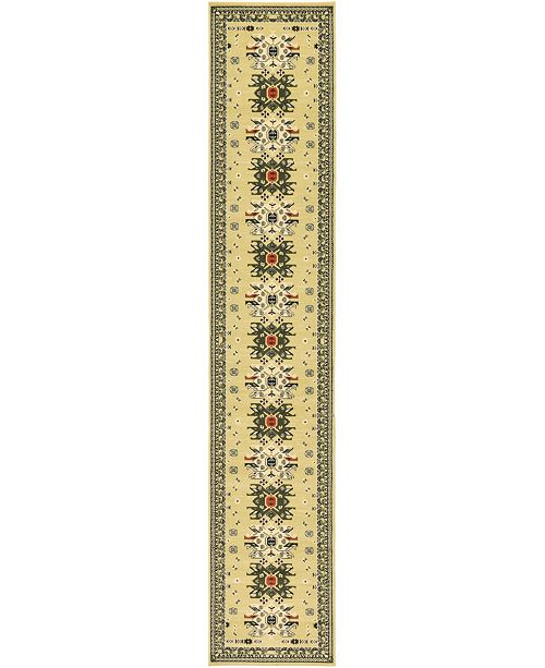 "Bridgeport Home Charvi Chr1 Ivory 3' x 16' 5"" Runner Area Rug"
