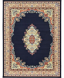 "Bridgeport Home Birsu Bir1 Navy Blue 9' 10"" x 13' Area Rug"