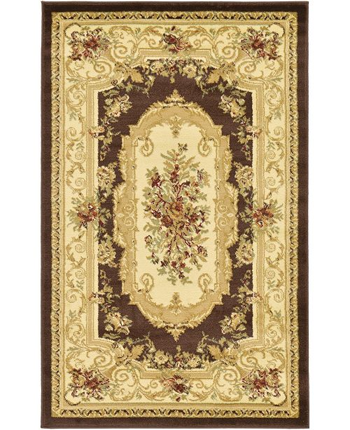 "Bridgeport Home Belvoir Blv3 Brown 3' 3"" x 5' 3"" Area Rug"