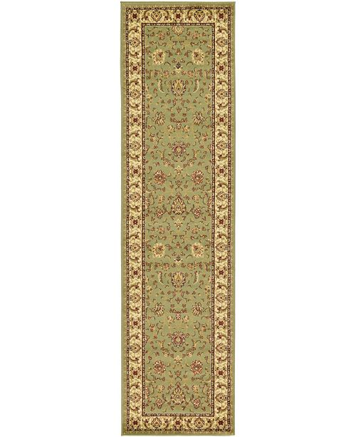 "Bridgeport Home Passage Psg4 Green 2' 7"" x 10' Runner Area Rug"