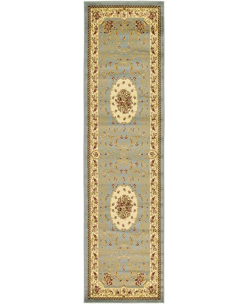 "Bridgeport Home Belvoir Blv4 Light Blue 2' 7"" x 10' Runner Area Rug"