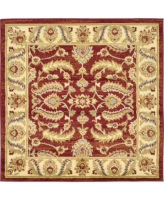 Passage Psg1 Red 4' x 4' Square Area Rug