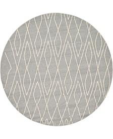 Fio Fio1 Gray 8' x 8' Round Area Rug