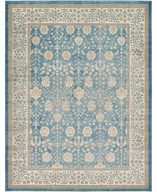 Bridgeport Home Bellmere Bel3 Light Blue 9' x 12' Area Rug