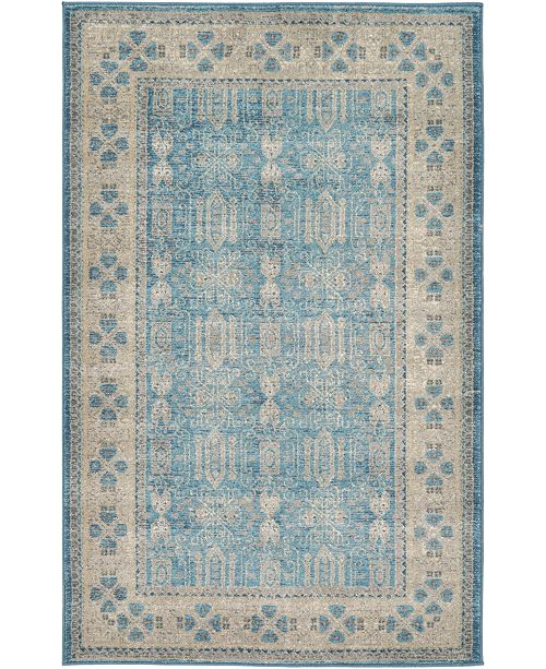 "Bridgeport Home Bellmere Bel1 Light Blue 3' 3"" x 5' 3"" Area Rug"