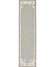 "Anzu Anz3 Gray 2' 7"" x 10' Runner Area Rug"