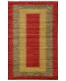 Bridgeport Home Ojas Oja8 Red 5' x 8' Area Rug