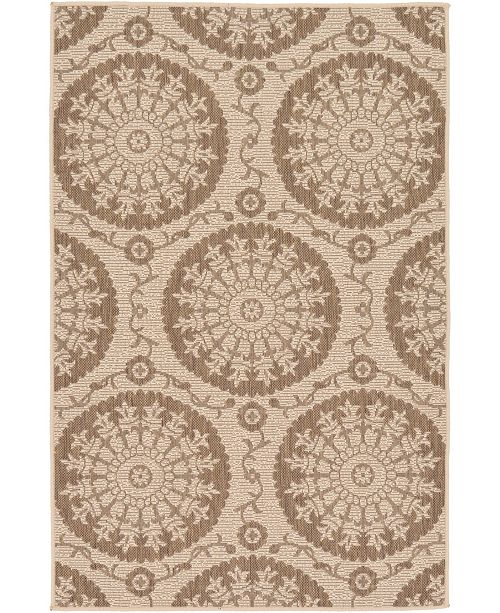 "Bridgeport Home Pashio Pas5 Brown 3' 3"" x 5' Area Rug"